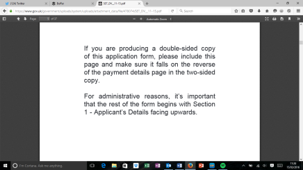 Home Office application forms